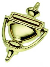 Georgian Urn Door Knocker in Polished Brass